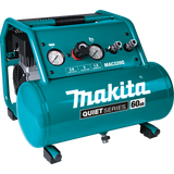 Makita MAC320Q Quiet Series 1-1/2 HP, 3 Gallon, Oil-Free, Electric Air Compressor