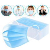 PRO-MASK Disposable Protective Mask, 3-Ply (50pcs)