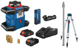 Bosch GRL4000-80CHK 18V REVOLVE4000 Connected Self-Leveling Horizontal Rotary Laser Kit with (1) CORE18V 4.0 Ah Compact Battery
