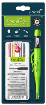 Pica-Marker PICA-30402 Pica Dry Longlife Auto Pencil / Basic Refill Set - 8pc