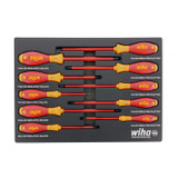 Wiha Tools WIHA-32080 10 Piece Insulated SoftFinish Cushion Grip Screwdriver Foam Laser Cut Set