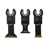Milwaukee 49-10-9006 OPEN-LOK Metal Cutting Multi-Tool Blade Variety Pack - 3Pc