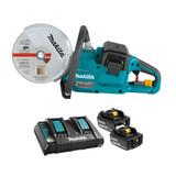 "Makita MAK-DCE090T2X1 9"" Cordless Power Cutter with Brushless Motor 2x 5.0Ah Kit"
