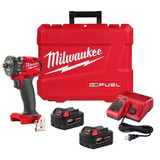 "Milwaukee 2855-22 M18 FUEL 1/2"" Compact Impact Wrench w/ Friction Ring Kit"