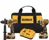 DeWALT DEW-DCK2100P2 20V MAX Brushless Cordless 2-Tool Kit Including Hammer Drill/Driver With FLEXVOLT Advantage