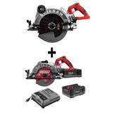 Skilsaw SPTH70M-01+SPTH77M-22 10-1/4IN. TRUEHVL Cordless Worm Drive Saw, Skilsaw Blade (Tool Only) PLUS 7-1/4 IN. TRUEHVL Cordless Worm Drive