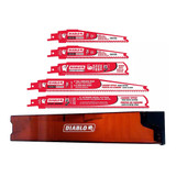 Freud FRE-DS005SCC Diablo 5-Piece Reciprocating Blades Carbide Metal/Wood