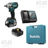 "Makita DTW285XVTE 18V 1/2"" Cordless Brushless Impact Wrench 2x 5.0Ah Kit"