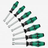 """Wera Tools WERA-05345230001 7-Piece Kraftform Plus Hollow Shaft 3/16"""" - 1/2"""" Nutdriver Set"""