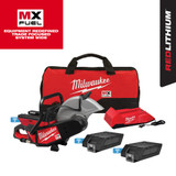 "Milwaukee MXF314-2XC MX FUEL Cordless Brushless 14"" Cut-Off Saw Kit with 2x XC406 Batteries & MX FUEL Charger"