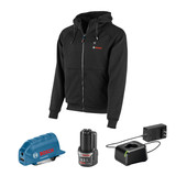Bosch BOS-GHH12V 12V Max Heated Hoodie Kit with Portable Power Adapter