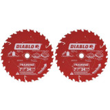 """Freud FRE-D0724PX 7-1/4"""" 24-Tooth Wood Framing Saw Blade (2-Pack)"""