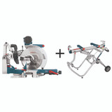 Bosch BOS-GCM12SD-T4B 12in Dual Bevel Glide Mitre Saw + T4B Mitre Saw Stand