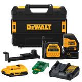 DeWALT DEW-DCLE34020G 20V MAX Cordless Cross Line Green Laser 2.0Ah Kit