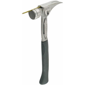 """Stiletto Tool TBM14RMC 14oz Titanium Hammer with Milled Face and 15.25"""" Curved Titanium Handle"""
