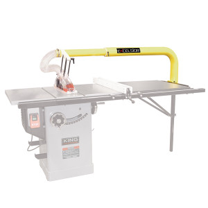 "King Industrial XL-1014 10"" Overarm Duct Collector and Blade Guard"