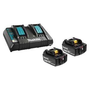 Makita Y-00359 DC18RD Dual Charger + 2x 5ah Batteries Starter Kit