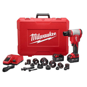 "Milwaukee 2676-22 FORCELOGIC M18 10 Ton Knockout Tool 1/2"" to 2"" Kit"