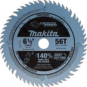 "Makita B-57342 6-1/2"" Carbide‑Tipped Circular Saw Blade 56T 20mm Wood/MDF"