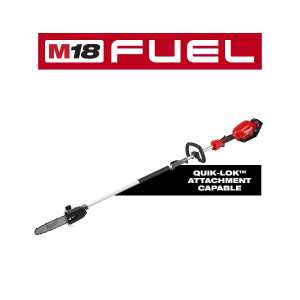 """Milwaukee 2825-21PS M18 FUEL 10"""" Pole Saw Kit With QUIK-LOK Attachment Capability"""