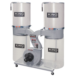 King Canada KC-4045C/KDCF-3500 Dust Collector, 3 HP, 220V, 2280CFM w/Canister Filter