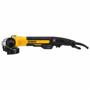 "DeWALT DWE43265N 5"" / 6"" Brushless Small Angle Grinder, Rat Tail w/ Kickback Brake, No Lock-On"