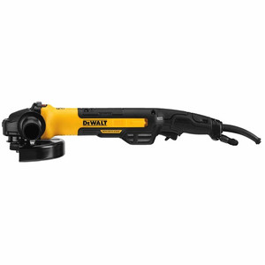 "DeWALT DWE43840CN 7"" Brushless Small Angle Grinder, Rat Tail, With Kickback Brake, No Lock, Pipeline Cover"