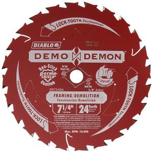 Freud FRE-D0724DA 7-1/4-Inch Diablo Demo Demon Circular Saw Blade