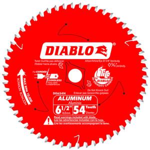 """Freud FRE-D0654N Diablo 6-1/2"""" 54T Aluminum Cutting Saw Blade"""