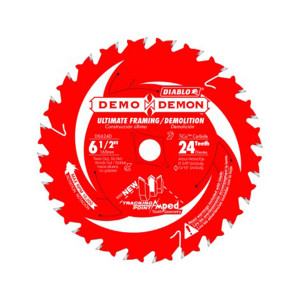 "Freud FRE-D0624DA Diablo 6-1/2"" 24 Teeth Demo-Demon Circular Saw Blade"