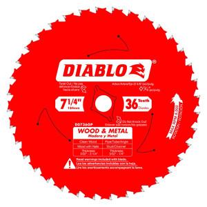 Freud FRE-D0736GPA Diablo 7‑1/4″ x 36T Wood & Metal Carbide Saw Blade