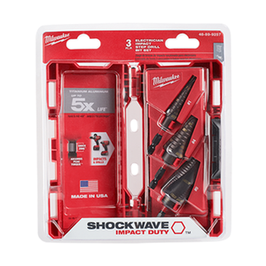 Milwaukee 48-89-9257 Step Bit 3Pc Kit Electrical