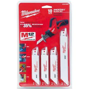Milwaukee 49-22-0220 10Pc Hackzall Blade Kit