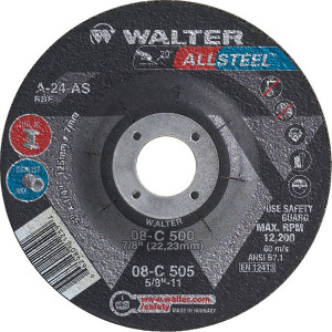 Walter Surface Technologies WAL-08C500 5In Allsteel Grind Disc (1/4)