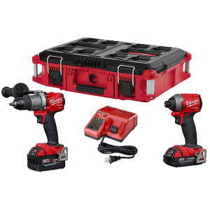 Milwaukee 2997-22CXPOC M18 FUEL 18V Lithium-Ion Brushless Cordless Hammer Drill & Impact Driver Combo Kit w/ PACKOUT Case
