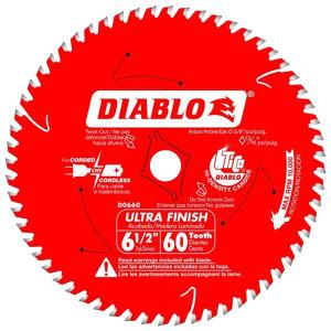"""Freud FRE-D0660A 6-1/2"""" X 60T Fine Saw Blade"""