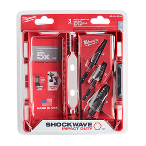 Milwaukee 48-89-9256 3Pc Shockwave Step Bit Kit