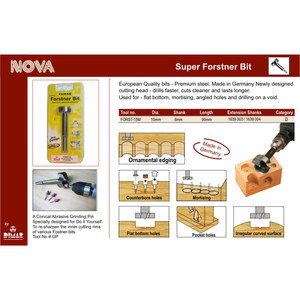 Dimar FORST-15M Famag 15mm Super Forstner Bit