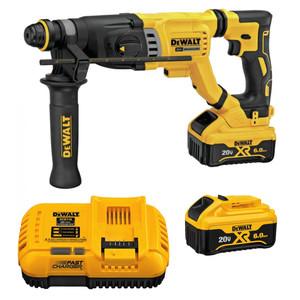 "DeWALT DCH263R2 20V MAX XR Brushless 1-1/8"" SDS PLUS D-Handle Rotary Hammer 2x 6.0ah Kit"