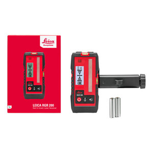 Leica Lasers and Disto LEI-866090 RGR 200 Red & Green Laser Receiver