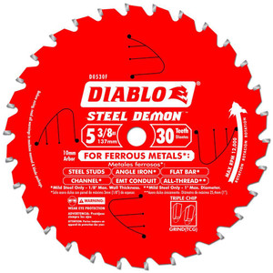 Freud FRE-D053830FMX DIABLO - Steel Demon 5‑3/8 in. x 30 Tooth Metal Cutting Saw Blade