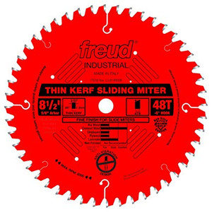Freud FRE-LU91R008 8.5X48T Thin Kerf Sliding Compound Miter Saw Blade