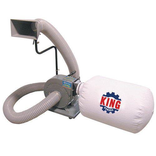 King Canada KC-1105C 1HP Single Bag Dust Collector