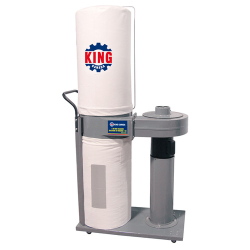 King Canada KC-2105C 1HP Two Bag Dust Collector 2