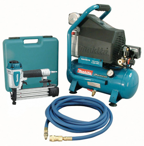 Makita MAK-MAC700-KIT3 18ga Nailer + 2.6gal Compressor Combo Kit