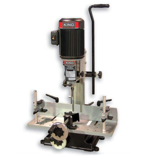 """King Industrial MA-1050ST  5/8"""" 3/4HP Hollow Chisel Mortiser with Tilting Head"""