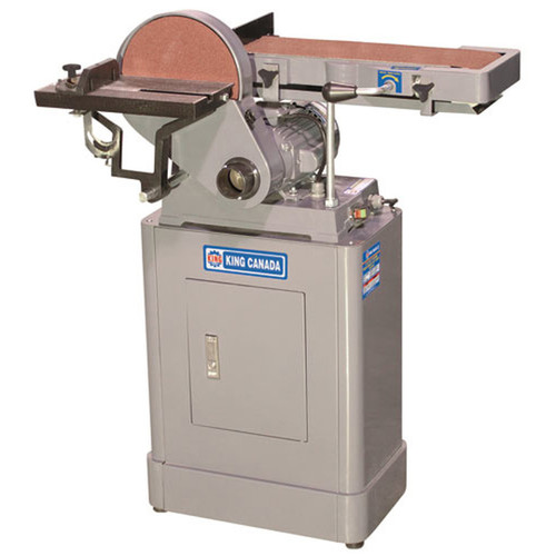 """King Canada KC-760L  1HP 6x48x9"""" Belt and Disc Sander with Enclosed Base"""