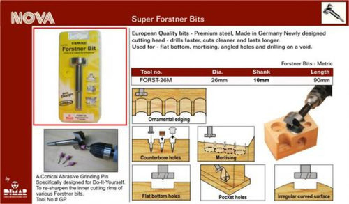 Dimar FORST-26M Size 26mm Forstner Bit