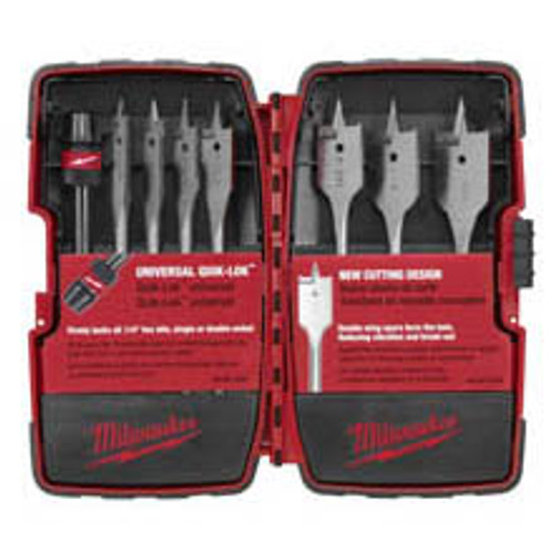 Milwaukee 49-22-0175  8 Peice Flat Bore Kit