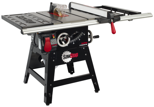 """SawStop SAW-CNS175-SFA30  CNS 1.75Hp,115, 230V, 60hz, 10"""" Contractor Saw with 30"""" Aluminum Ext Fence System"""